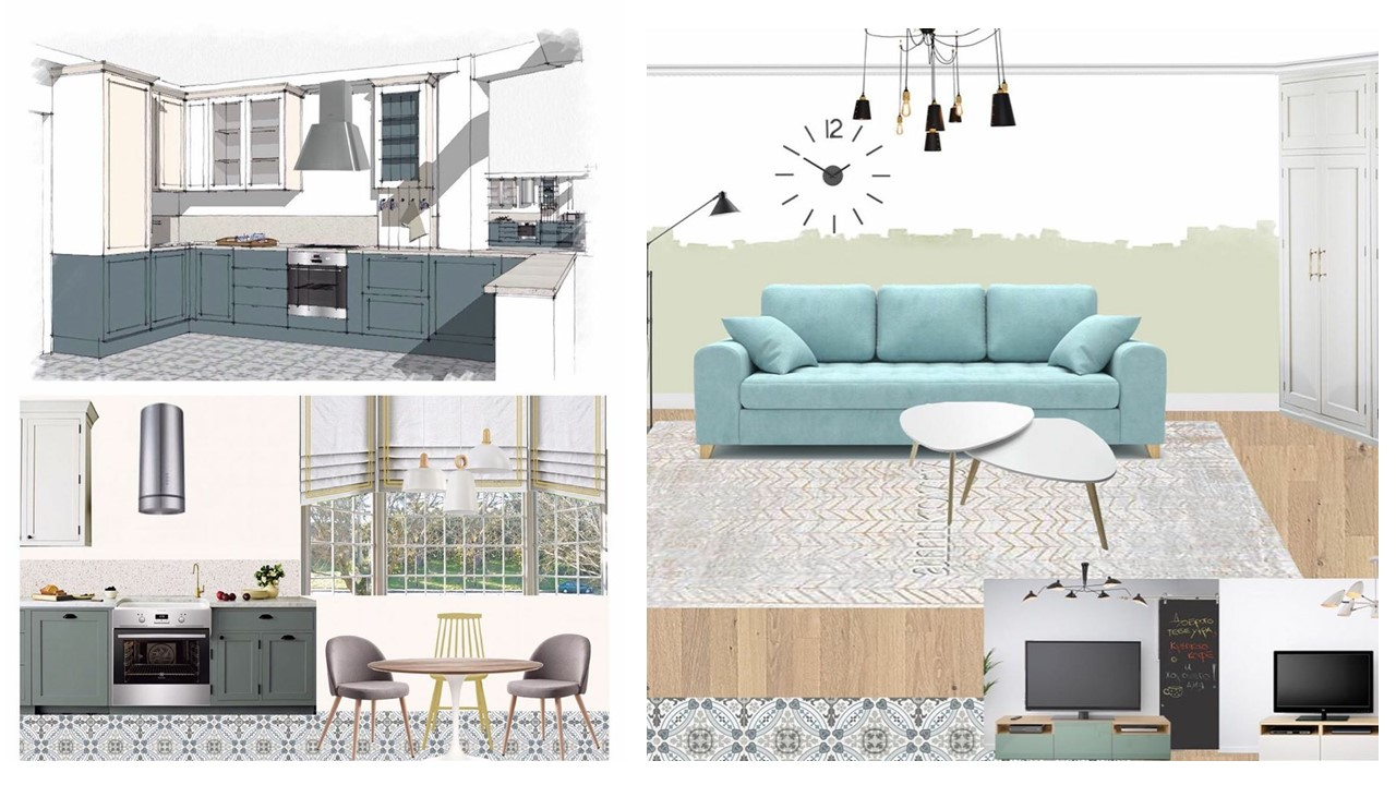 adelaparvu.com despre mood board apartament 67 mp pentru familie cu copil, design Anna Morozova (1)