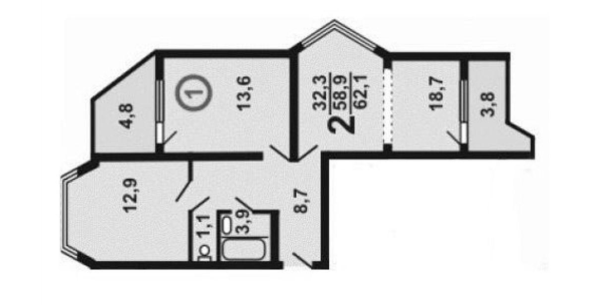 adelaparvu.com despre plan inainte apartament 67 mp pentru familie cu copil, design Anna Morozova, Foto Dina Alexandrova (1)