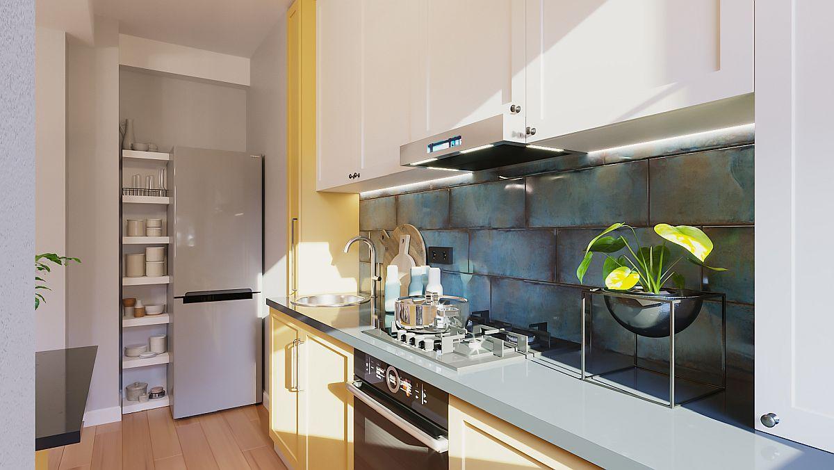 adelaparvu.com despre proiect amenajare apartament 48 mp pentru inchiriere, design arh. Andreea Besliu (1)