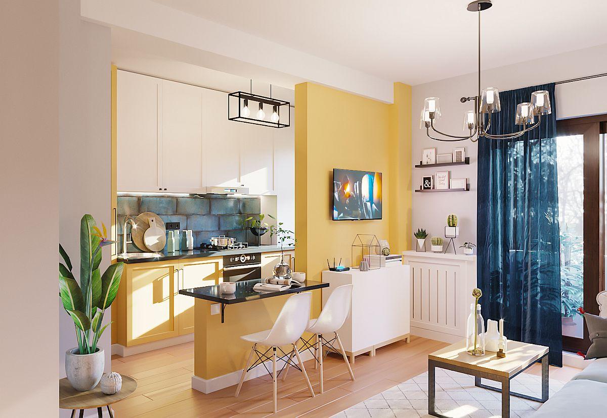 adelaparvu.com despre proiect amenajare apartament 48 mp pentru inchiriere, design arh. Andreea Besliu (3)