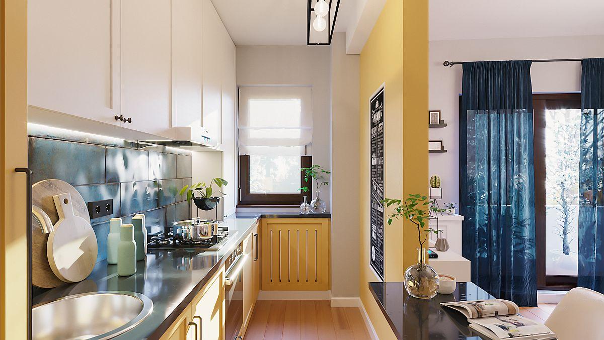adelaparvu.com despre proiect amenajare apartament 48 mp pentru inchiriere, design arh. Andreea Besliu (4)