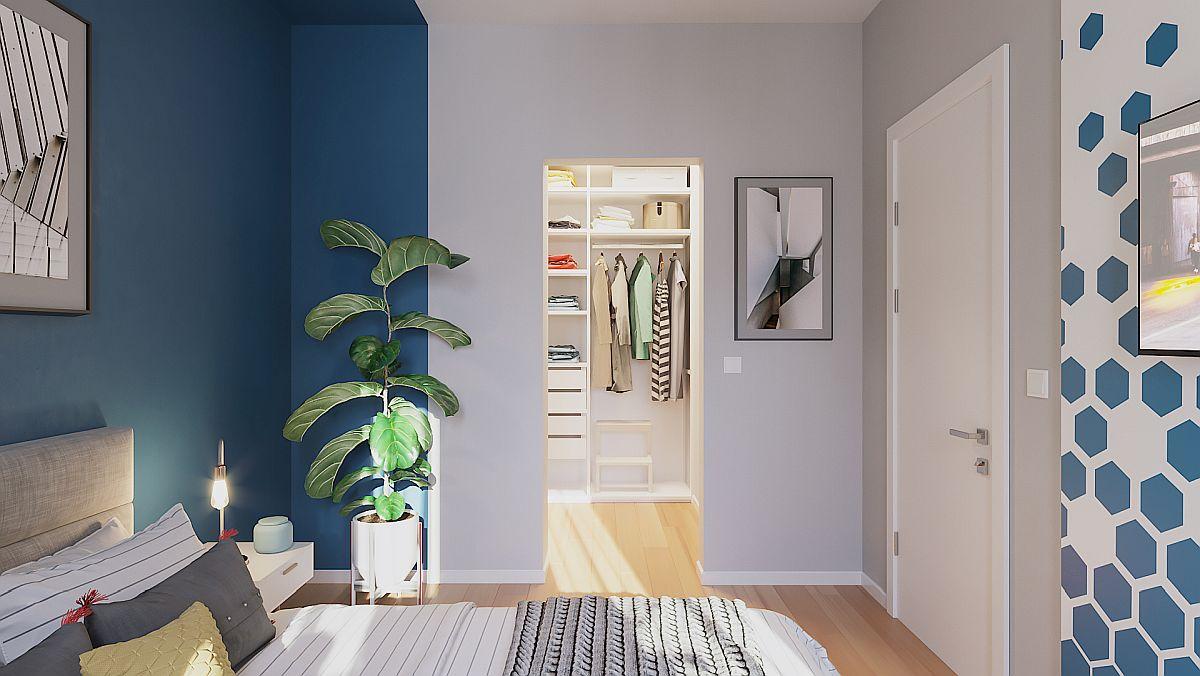 adelaparvu.com despre proiect amenajare apartament 48 mp pentru inchiriere, design arh. Andreea Besliu (8)