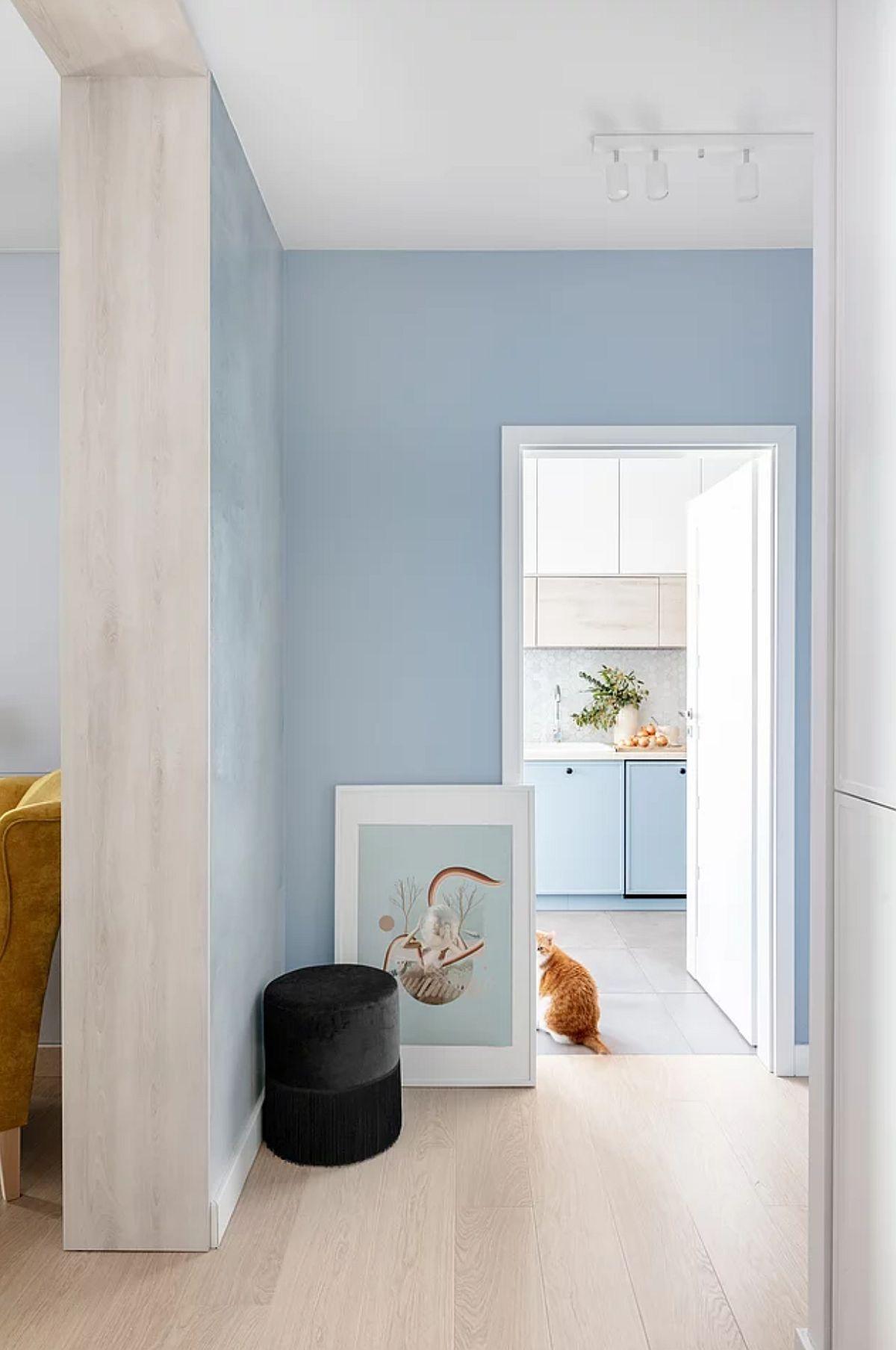 adelaparvu.com despre amenajare living, bucatarie, baie in albastru, design Design My Deer, Foto Ayuko Studio (11)