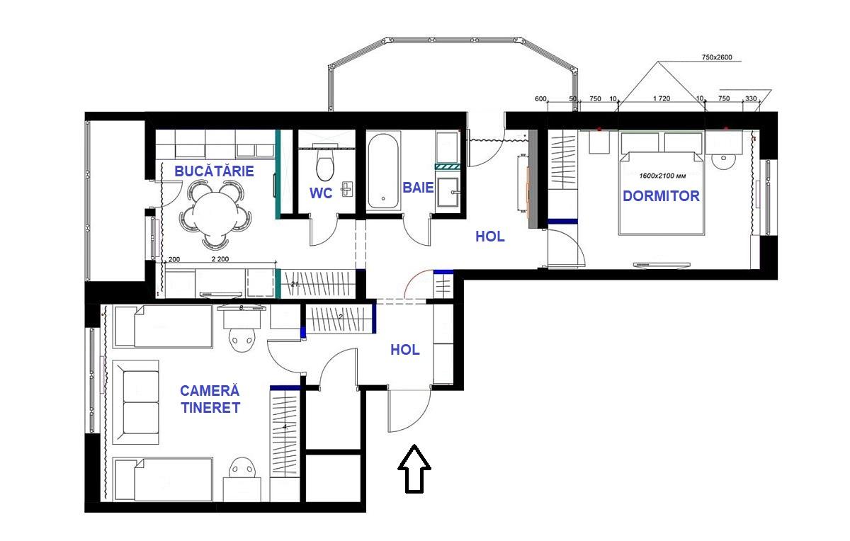 adelaparvu.com despre amenajarea apartament 2 camere pentru familie de 5 persoane, design Helenka Design, Foto (81)