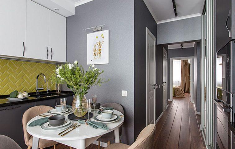adelaparvu.com despre amenajarea apartament 2 camere pentru familie de 5 persoane, design Helenka Design, Foto Foto Boris Bochkarev (14)