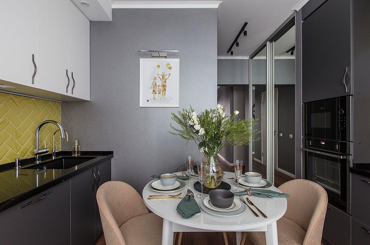 adelaparvu.com despre amenajarea apartament 2 camere pentru familie de 5 persoane, design Helenka Design, Foto Foto Boris Bochkarev (16)