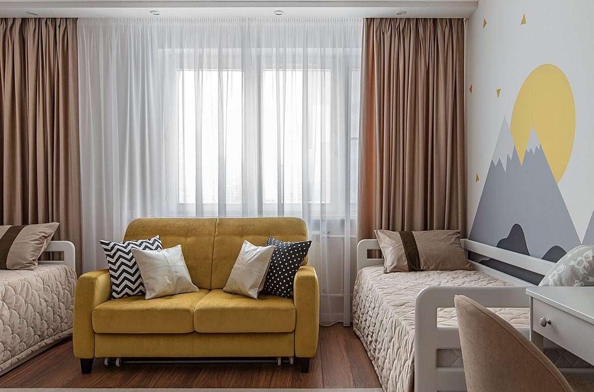 adelaparvu.com despre amenajarea apartament 2 camere pentru familie de 5 persoane, design Helenka Design, Foto Foto Boris Bochkarev (18)