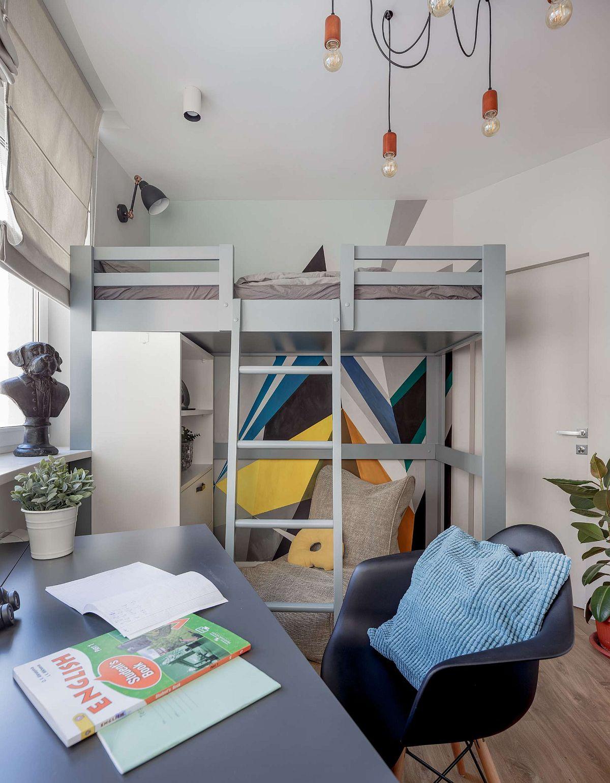adelaparvu.com despre apartament 91 mp pentru o familie cu 4 copii, designer Aigul Sultanova, Foto Roman Spiridonov (17)