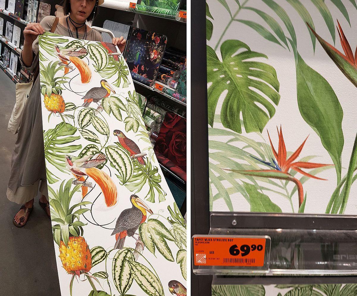 adelaparvu.com despre decoratiuni la pret bun in magazine, Hornbach tapet vegetal