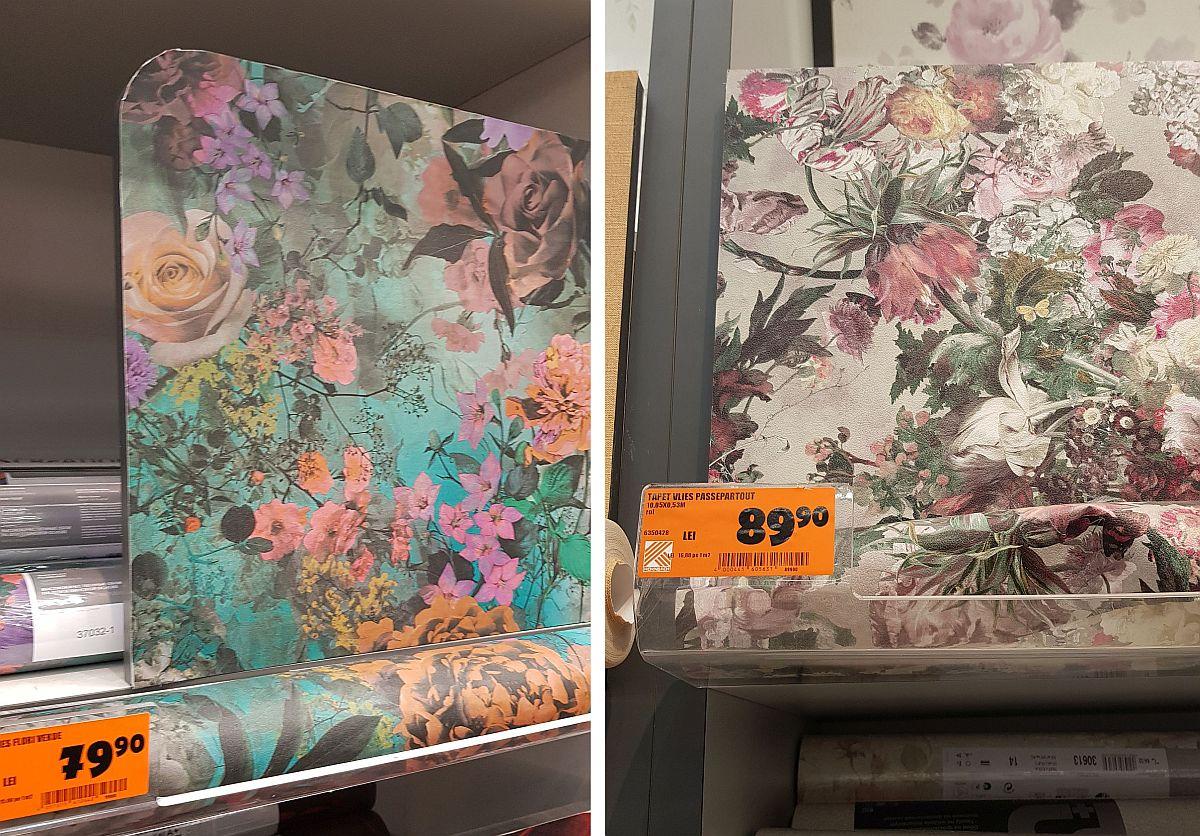 adelaparvu.com despre decoratiuni la pret bun in magazine, Hornbach tapete florale