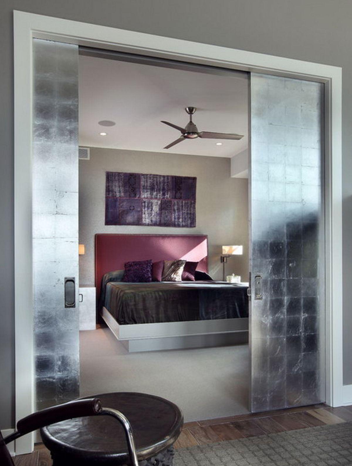 adelaparvu.com despre idei decorare usa interioara cu foita de argint