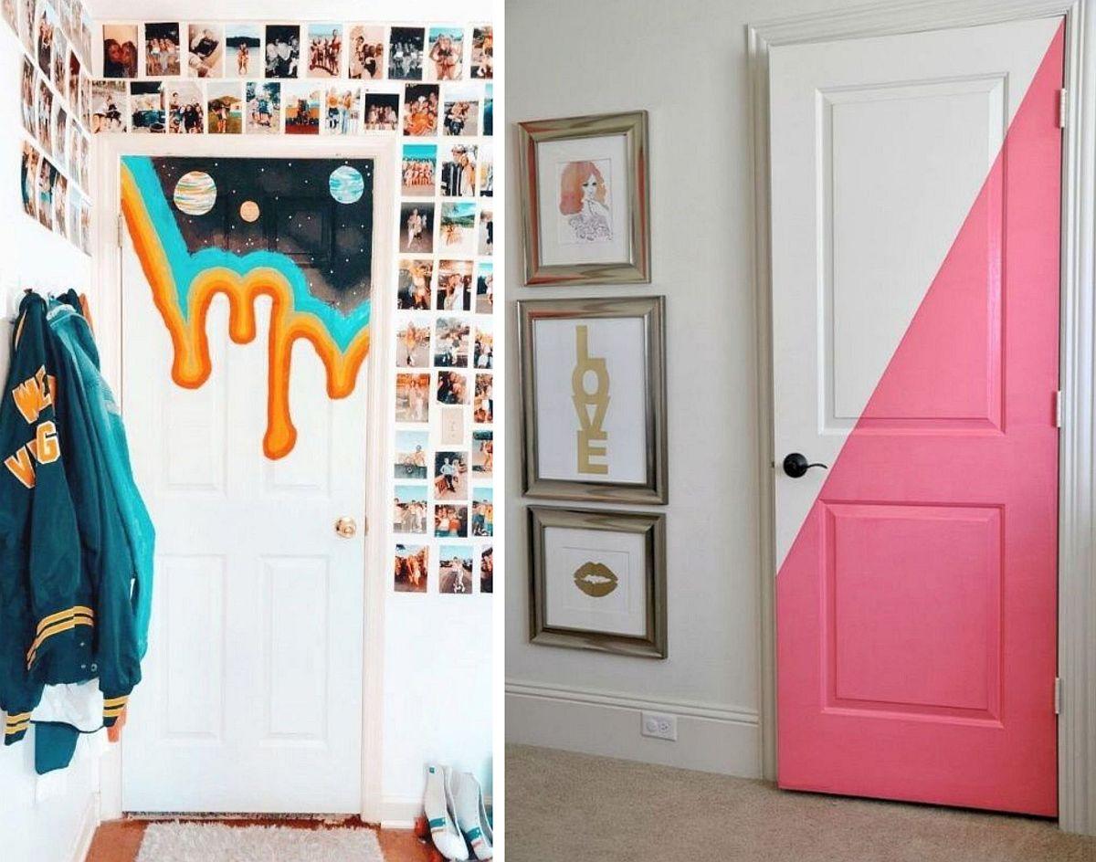 adelaparvu.com despre idei decorare usa interioara cu picturi