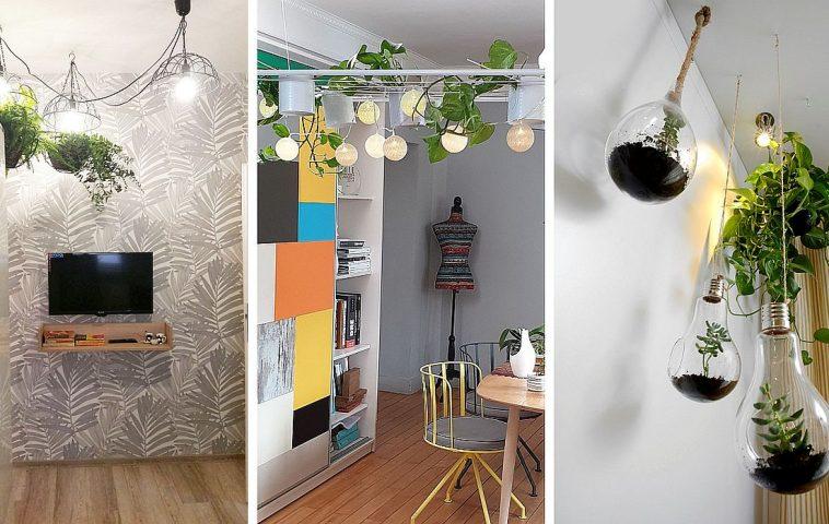 adelaparvu.com despre corpuri de iluminat cu plante, style Urban Jungle Lighting