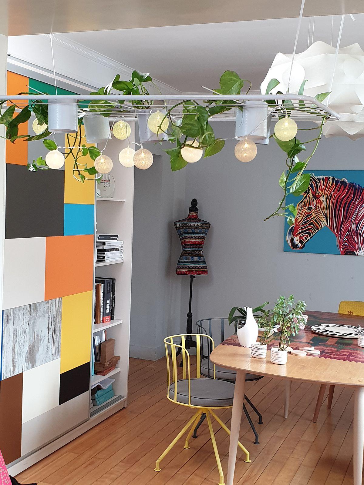 adelaparvu.com despre instalatie corpuri de iluminat cu plante, Urban Jungle