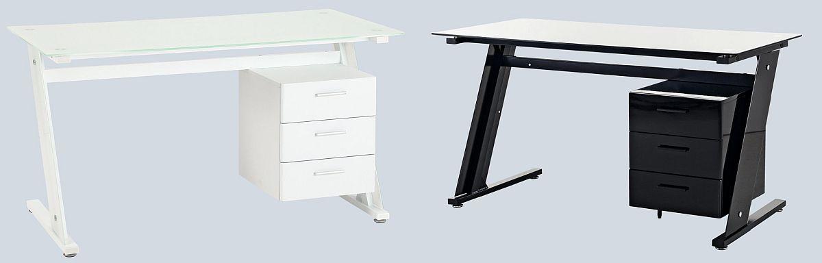 Masă birou New City. Disponibilă în două variante de culoare.