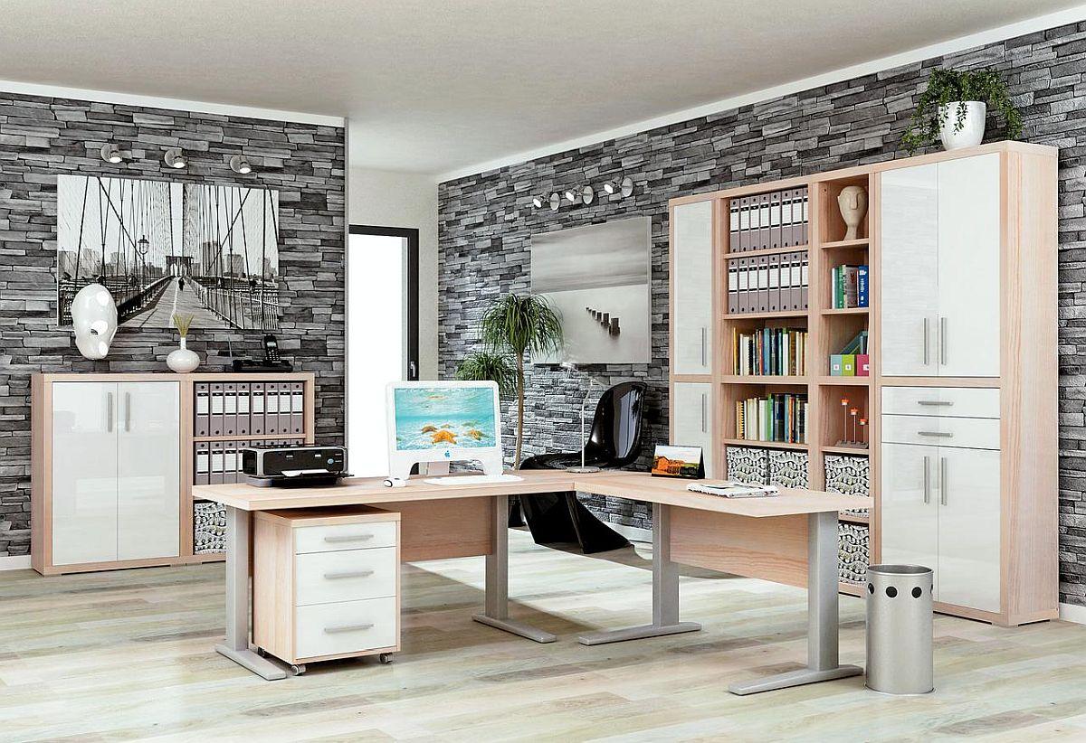 Gama de mobilier de birou Stampa. Vezi număr și tipuri piese, dimensiuni, materiale și prețuri AICI.