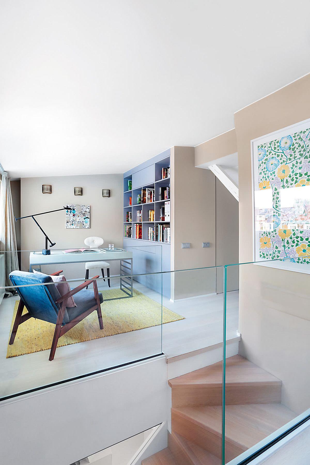 adelaparvu.vom despre amenajare mansarda in nuante pastelate, design Maria Rosaria Bocciuni, Foto Aneta Tryczynska (5)