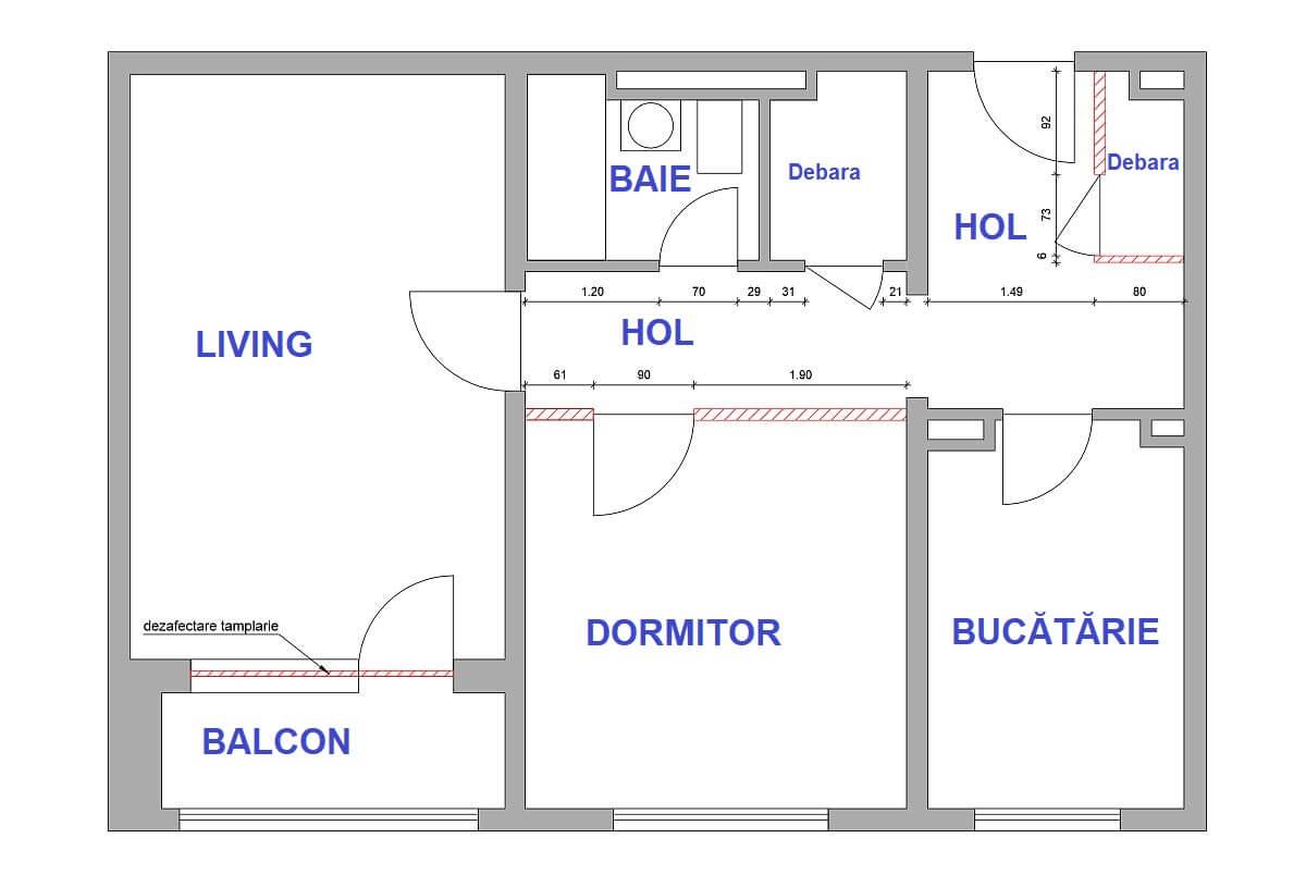 adelaparvu.com despre amenajare apartament 2 camere, 60 mp, design Adela Parvu, Paul Domsa, Alderamin Studio (1)