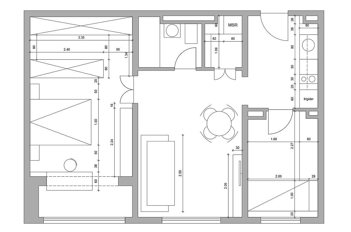 adelaparvu.com despre amenajare apartament 2 camere, 60 mp, design Adela Parvu, Paul Domsa, Alderamin Studio (2)