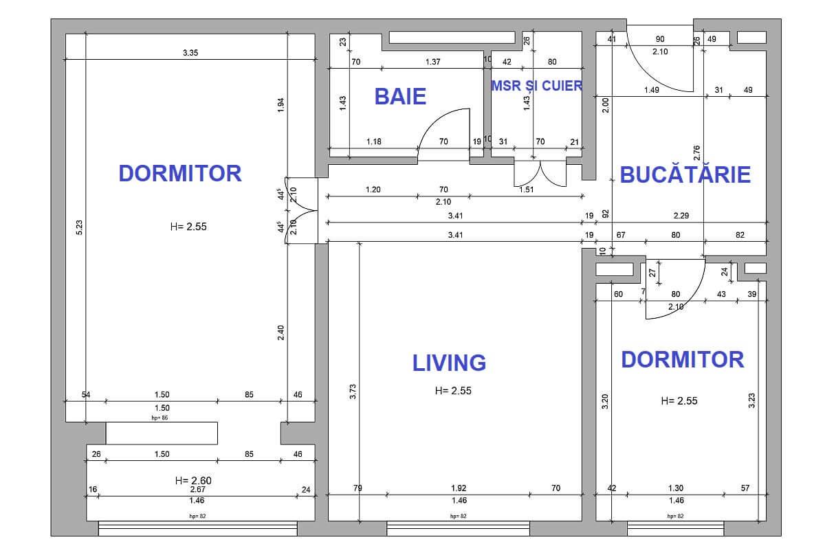adelaparvu.com despre amenajare apartament 2 camere, 60 mp, design Adela Parvu, Paul Domsa, Alderamin Studio (3)