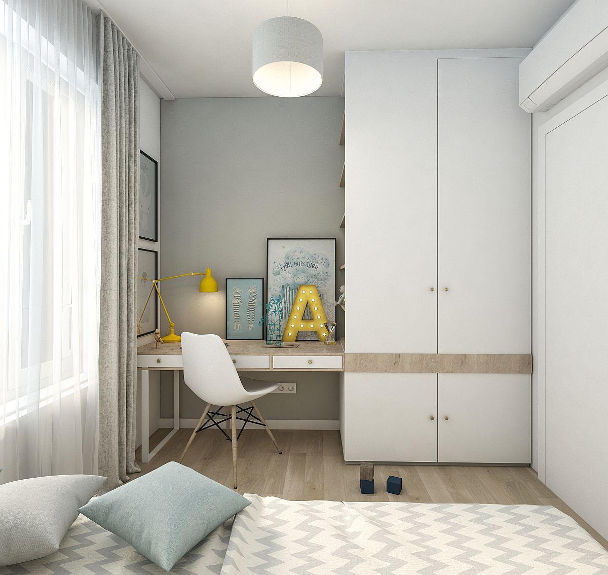 adelaparvu.com despre amenajarea locului de birou din camera copilului, Foto Randari Alderamin Studio (4)