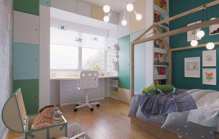 adelaparvu.com despre amenajarea locului de birou din camera copilului, Foto Randari Alderamin Studio (6)