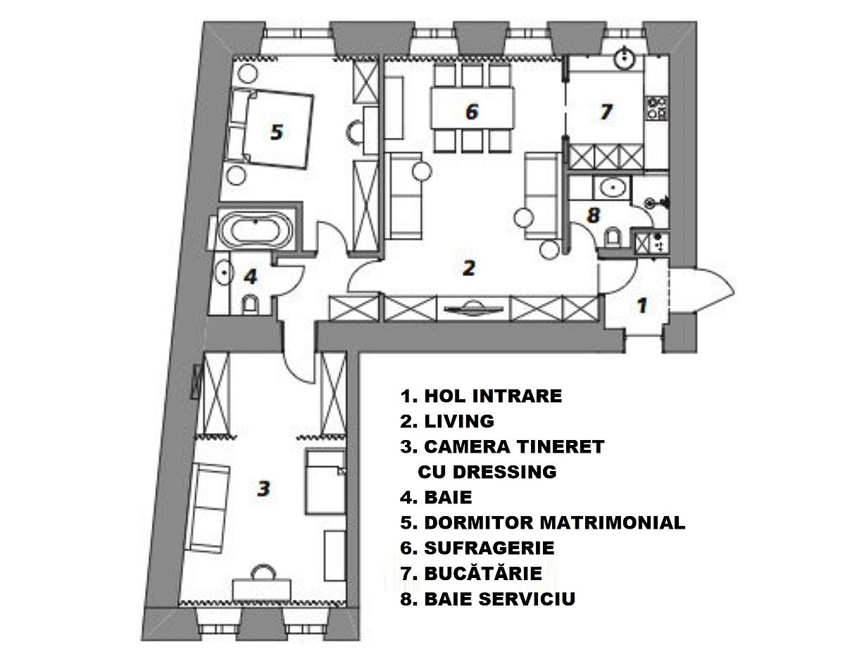adelaparvu.com despre apartament 90 mp, design Minina Design, Foto Mikhail Loskutov (9)
