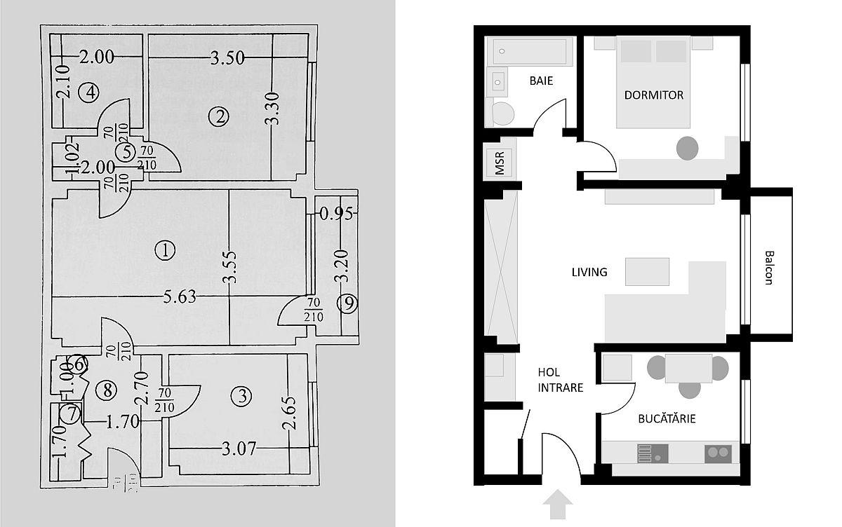 adelaparvu.com despre apartament de 56 mp Bucuresti, design arh. Cristian Patrascu (1)