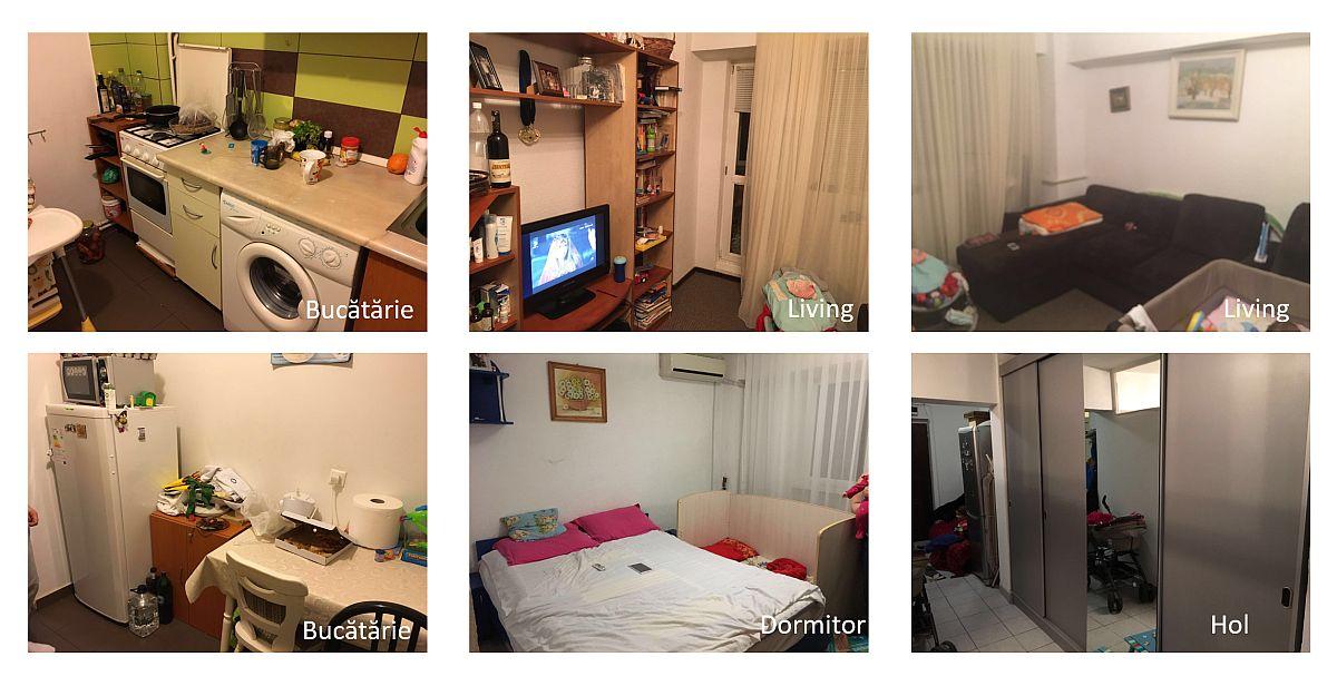 adelaparvu.com despre apartament de 56 mp Bucuresti, foto inainte de renovare