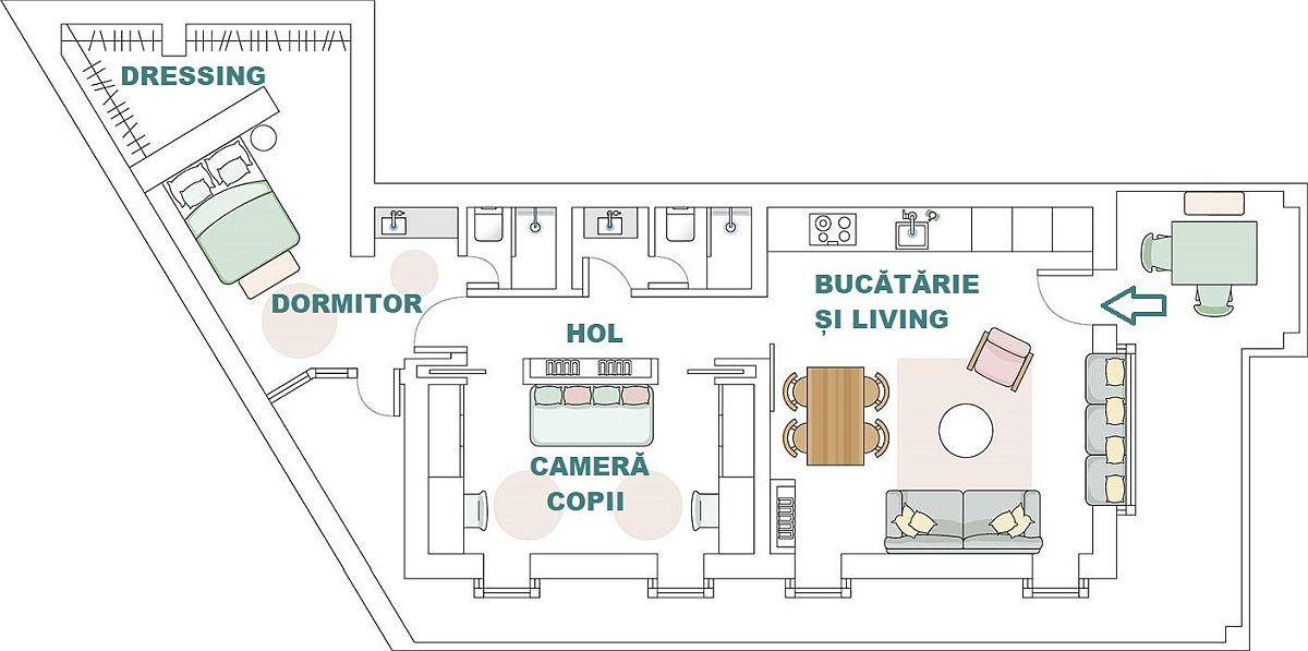 adelaparvu.com despre apartament de 70 mp, design Moser Mur Arquitectura, Foto ElMueble (9)