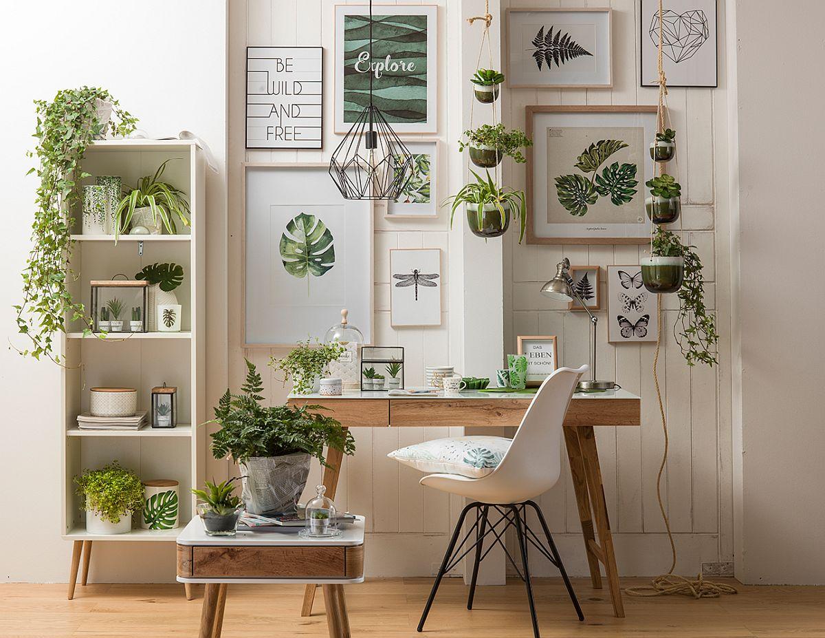 Ambient în stil Urban Jungle cu piese de mobilier, decorațiuni și corpuri de iluminat de la kika.