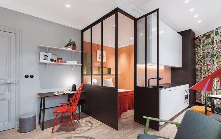 adelaparvu.com despre renovare apartament 35 mp, Nantes, designer Pierre-Edouard Milochau, Foto Decodheure, Caroline Morin (11)