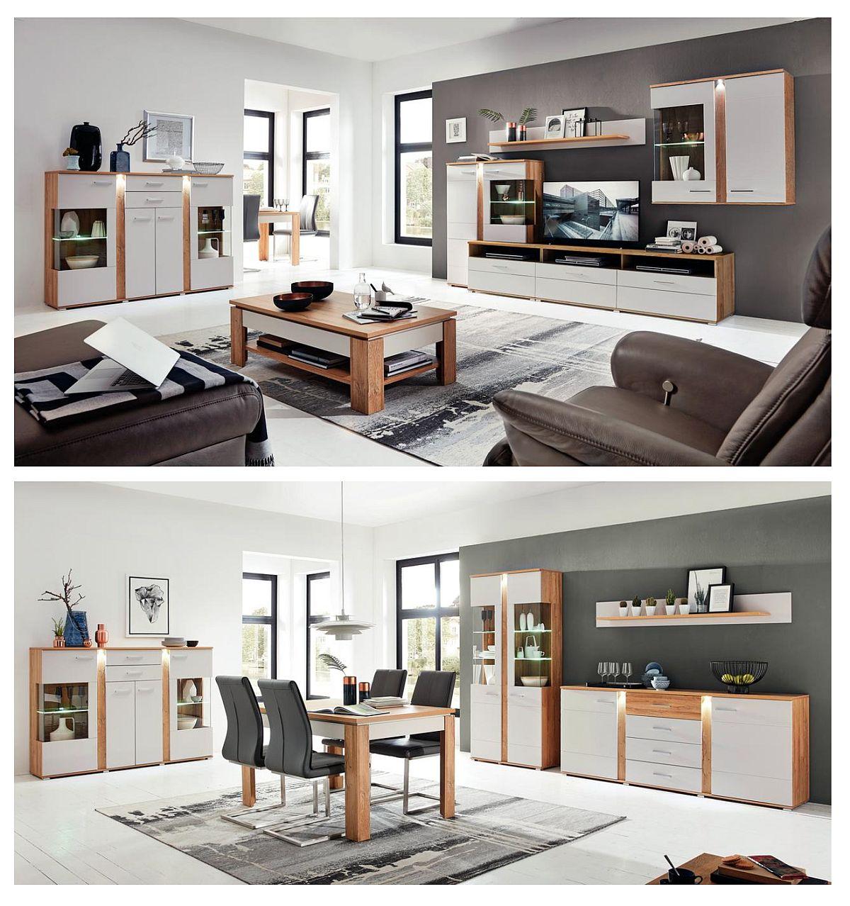Gama Spurt include atât piese pentru living, cât și pentru sufragerie. Vezi număr de piese, materiale și dimensiuni AICI.