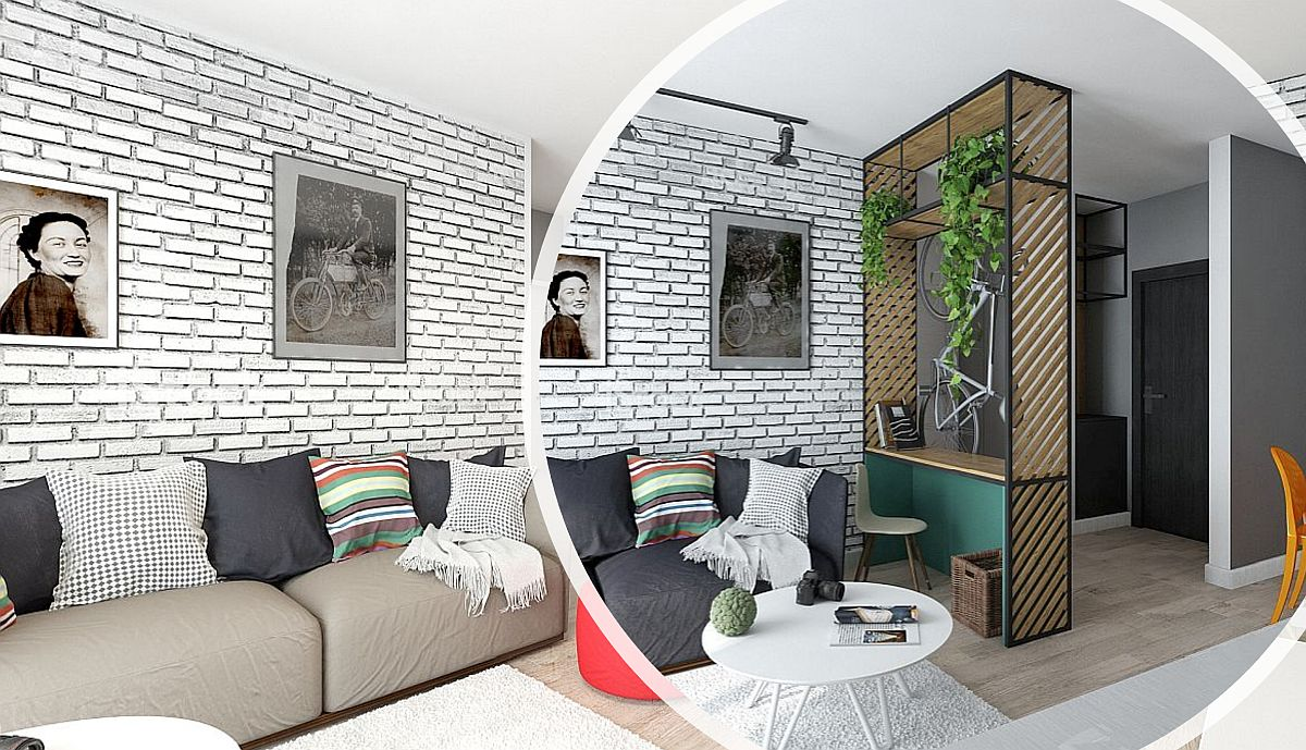 adelaparvu.com despre amenajare apartament 2 camere AFI CITY, 2 variante, design Alderamin Studio (1)