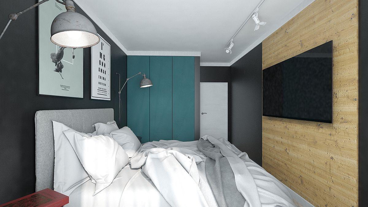 adelaparvu.com despre amenajare apartament 2 camere AFI CITY, 50 mp, design Alderamin Studio (2)