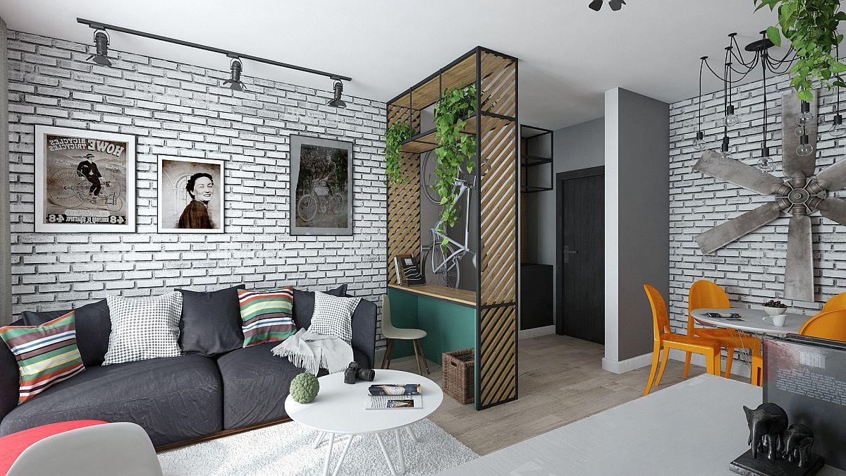 adelaparvu.com despre amenajare apartament 2 camere AFI CITY, 50 mp, design Alderamin Studio (3)