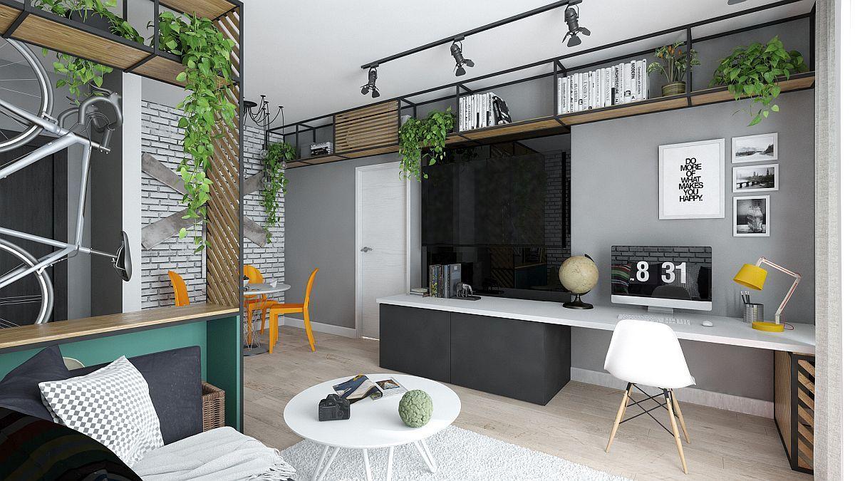 adelaparvu.com despre amenajare apartament 2 camere AFI CITY, 50 mp, design Alderamin Studio (5)