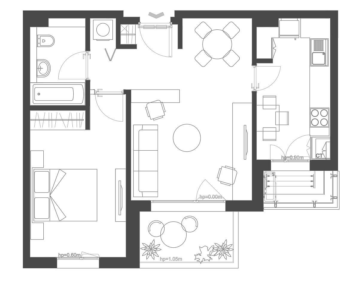 adelaparvu.com despre amenajare apartament 2 camere AFI CITY, 50 mp, design Alderamin Studio (6)