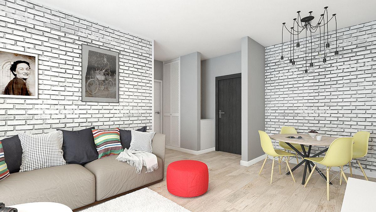 adelaparvu.com despre amenajare apartament 2 camere AFI CITY, design Alderamin Studio (6)