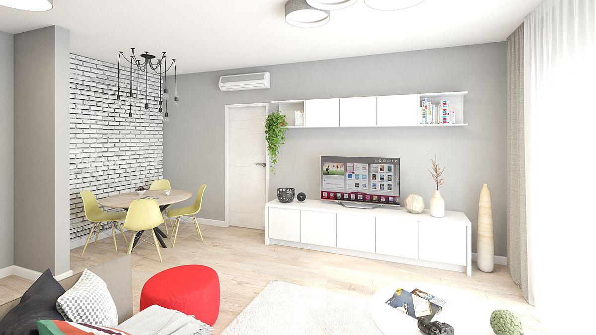 adelaparvu.com despre amenajare apartament 2 camere AFI CITY, design Alderamin Studio (7)