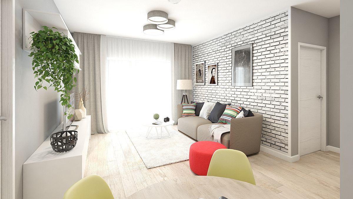 adelaparvu.com despre amenajare apartament 2 camere AFI CITY, design Alderamin Studio (8)