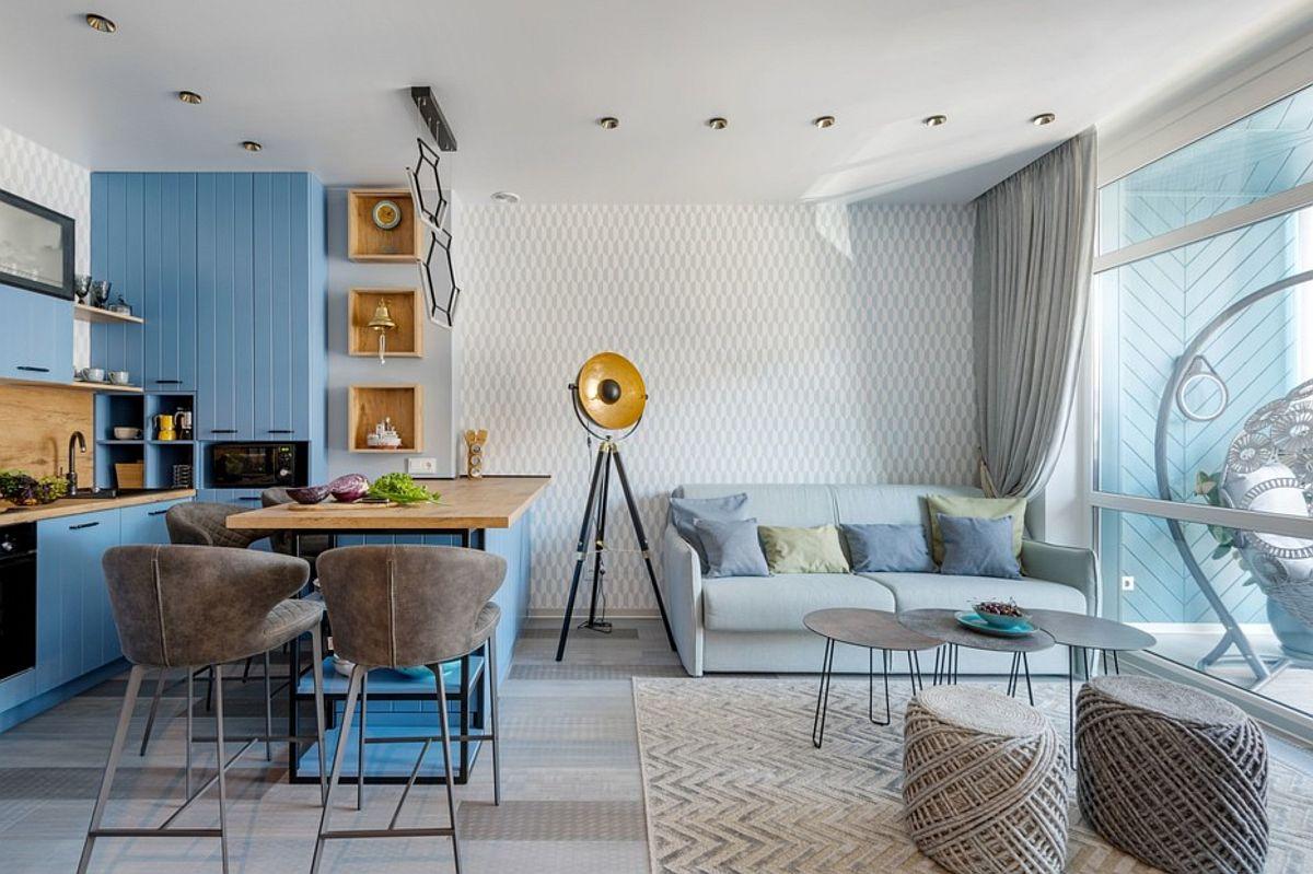 adelaparvu.com despre amenajare in stil marin apartament 47 mp, design Nika Lazareva, Foto Denis Kichatov (10)