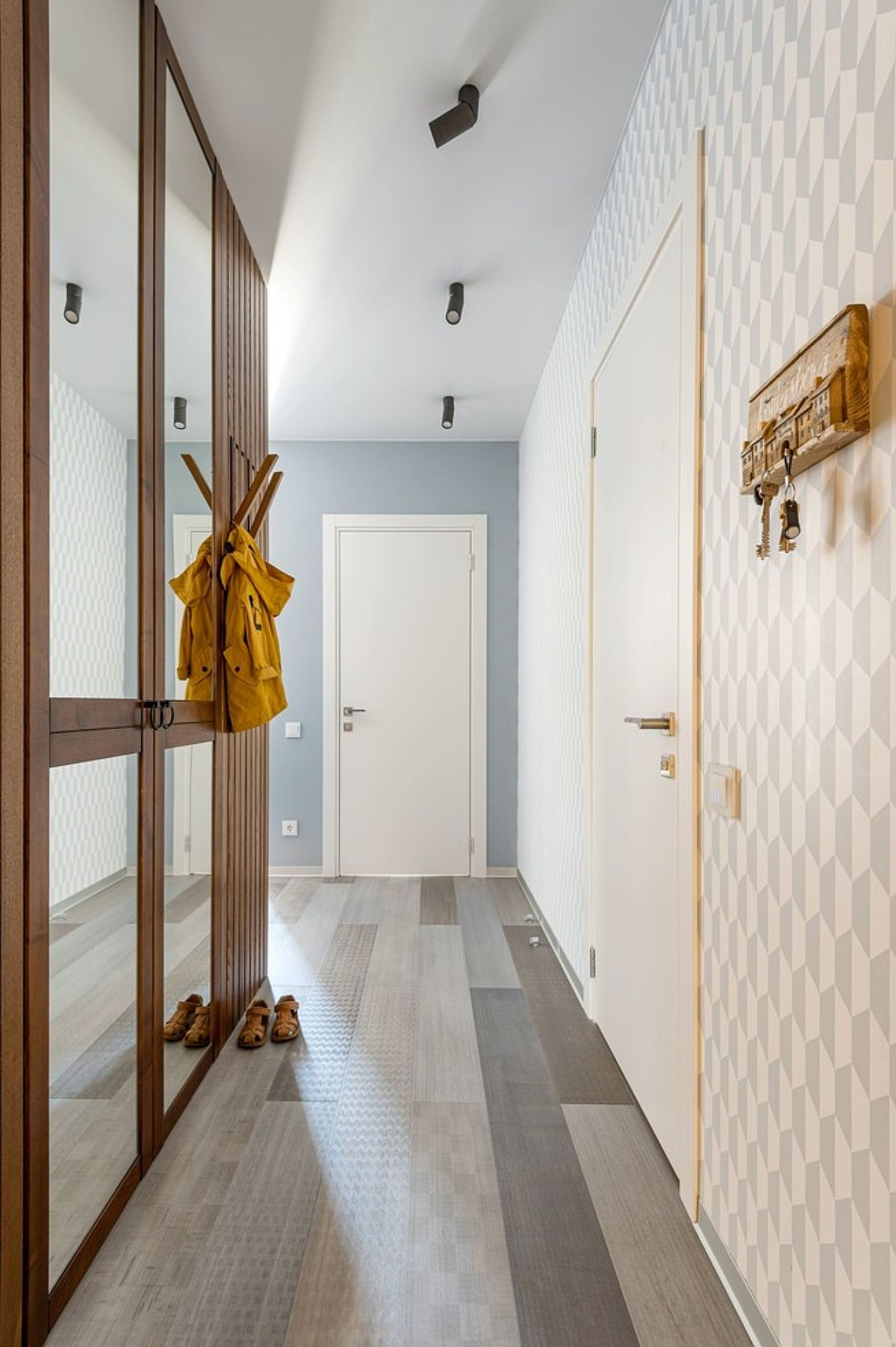adelaparvu.com despre amenajare in stil marin apartament 47 mp, design Nika Lazareva, Foto Denis Kichatov (11)