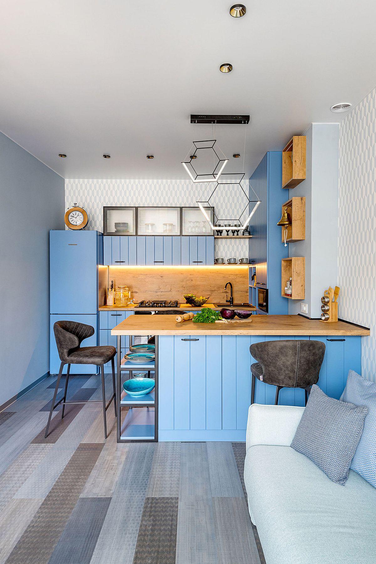 adelaparvu.com despre amenajare in stil marin apartament 47 mp, design Nika Lazareva, Foto Denis Kichatov (6)