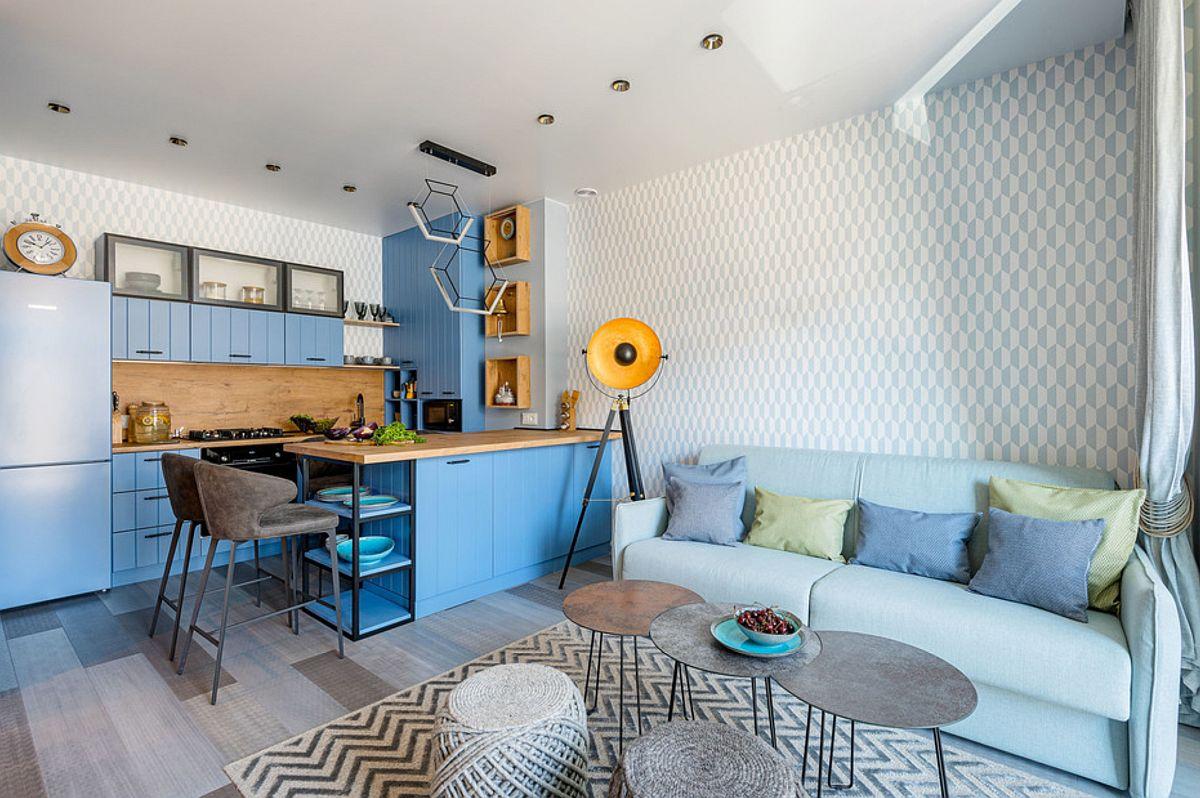 adelaparvu.com despre amenajare in stil marin apartament 47 mp, design Nika Lazareva, Foto Denis Kichatov (9)