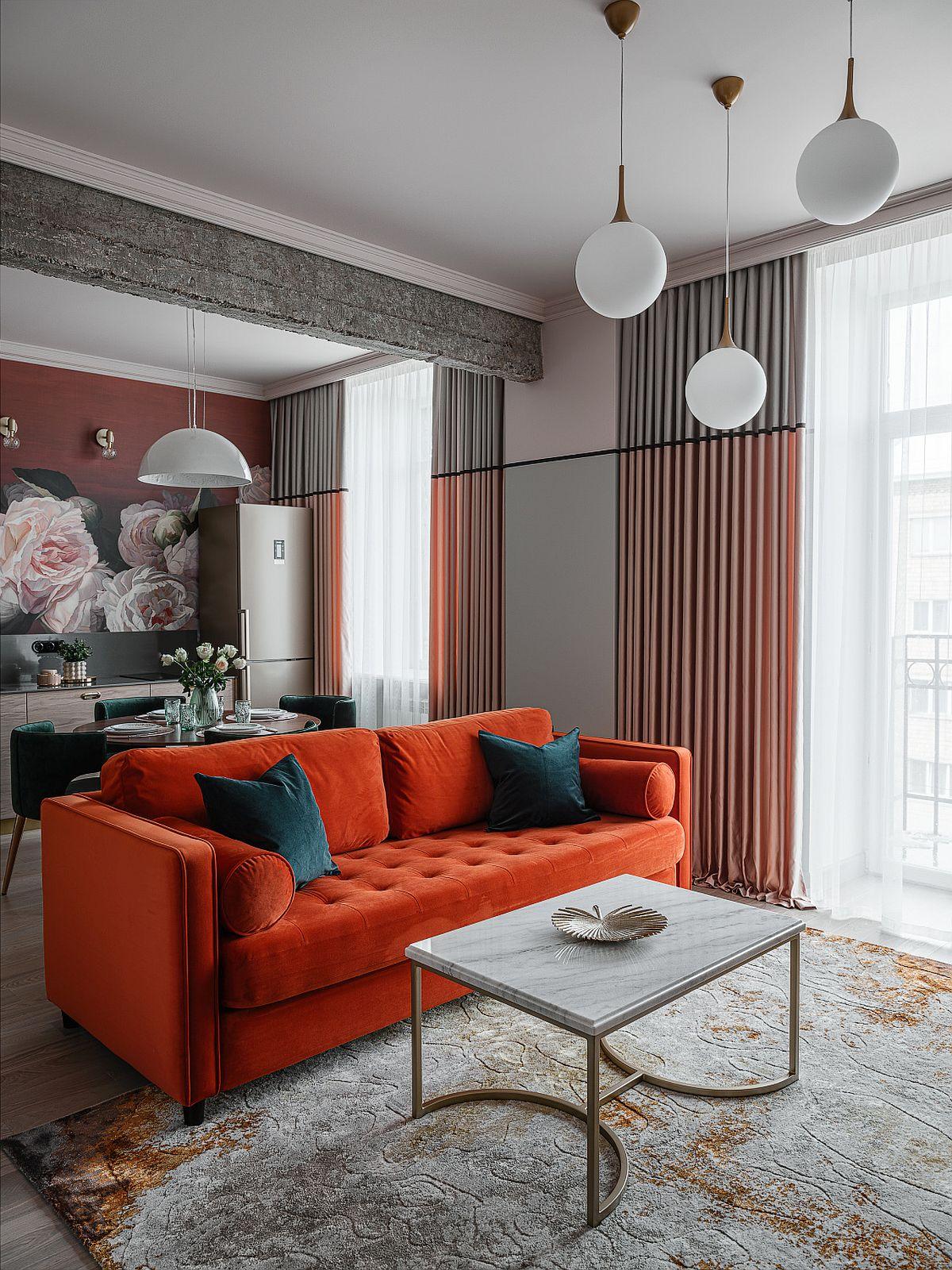 adelaparvu.com despre bucatarie cu tapet cu flori, designer Iulia Sheypunas, foto Vladimir Barabash (2)