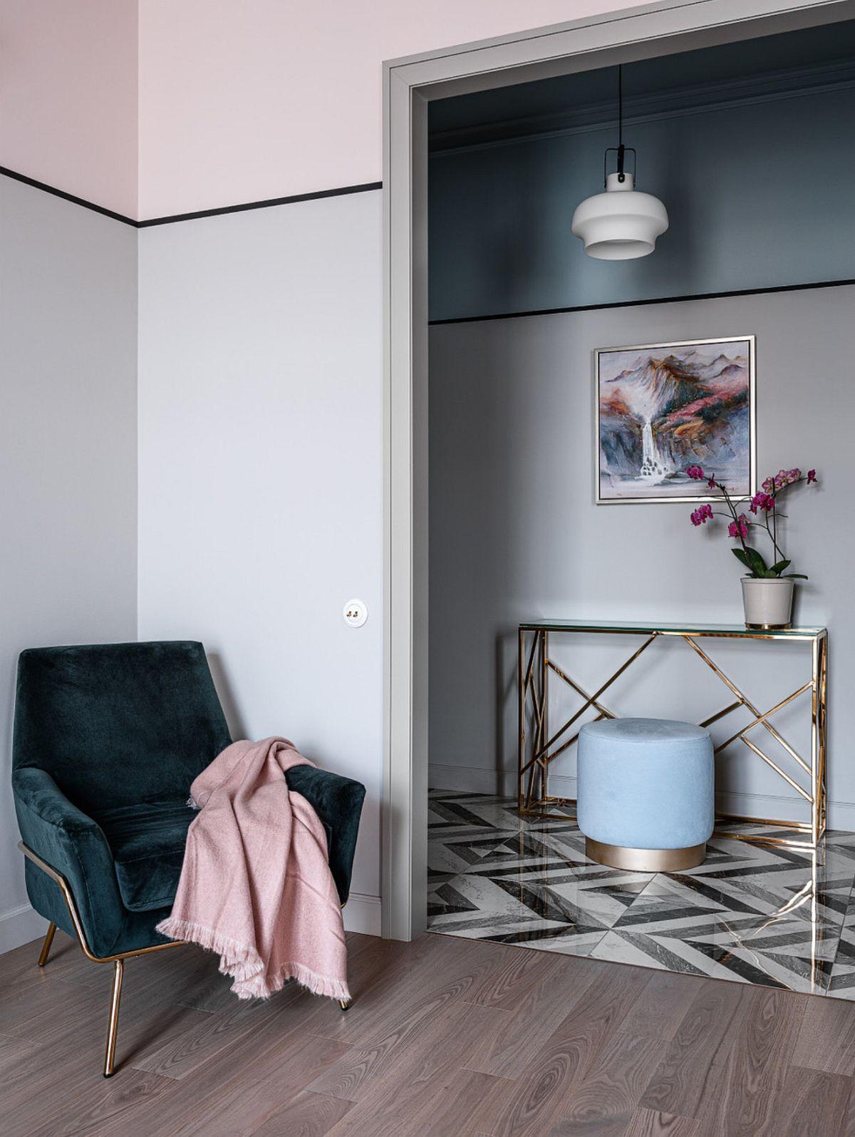 adelaparvu.com despre bucatarie cu tapet cu flori, designer Iulia Sheypunas, foto Vladimir Barabash (6)