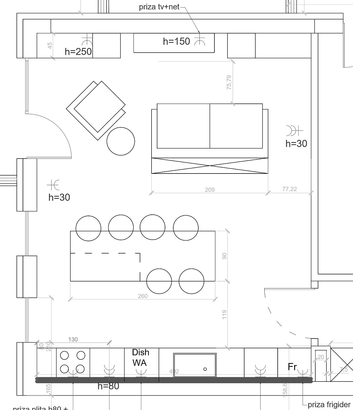 adelaparvu.com despre canapeaua potrivita, canapea pe mijlocul spatiului