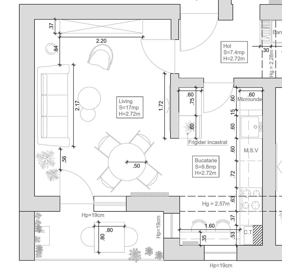 adelaparvu.com despre canapeaua potrivita in functie de spațiu, canapea in dreptul usii de balcon