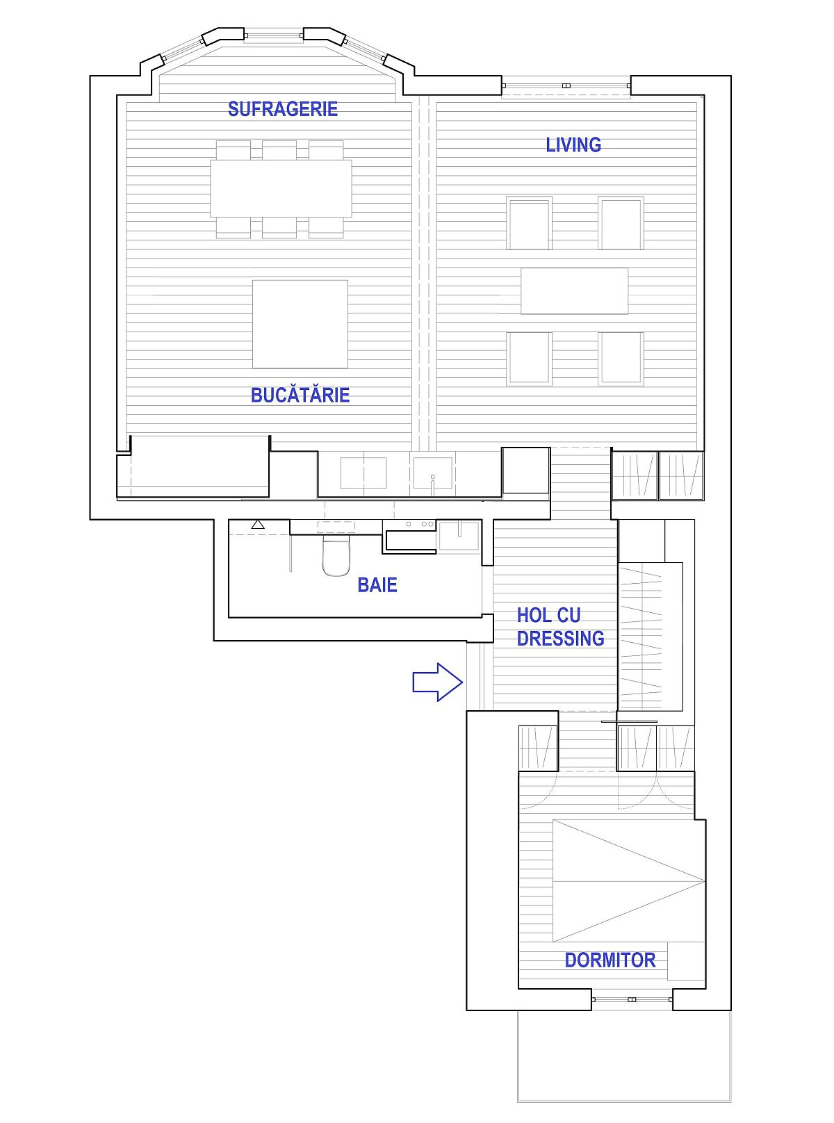 adelaparvu.com despre locuinta 80 mp, Suedia, design arh. David Lookofsky, plan